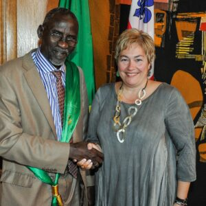 Accueil d'une délégation de maires de Mauritanie